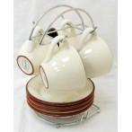 """Чайный набор на металлической подставке """"Кухня в стиле Кантри"""""""