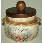 """Банка для кофе с деревянной крышкой """"Элианто"""""""