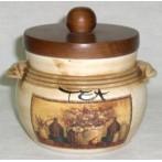 """Банка для чая с деревянной крышкой """"Натюрморт"""""""