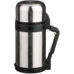 Термос с широким горлом 800 мл, крышка-чашка, пластик. чашка, двойная пробка, колба нжс (кор=12шт.)
