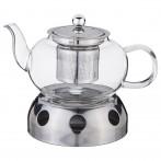 Чайник заварочный с фильтром из нжс и подставкой для подогрева 800 мл (кор=24набор.)