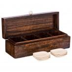 Набор для чайных пакетиков: коробка 32*10*10 см + 6 подставок (кор=8набор.)