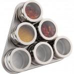 Набор для специй 7 пр.на магнитах+метал.подставка 20*22*5 см (кор=24наб.)