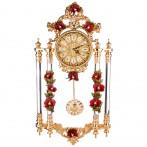 Часы настенные цвет красный 90*48*18 см диаметр циферблата=19 см