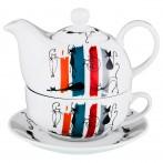 Чайный набор на 1 персону 3 пр. 450/300мл. (кор=16набор.)