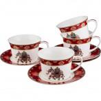 Чайный набор на 4 персоны 8 пр. 250 мл. диаметр=15,5 см. (кор=8набор.)