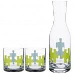 Набор для воды: графин + 2 стакана 1100/450 мл., высота=30,5/9,5 см.
