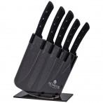 Набор ножей agness на пластиковой подставке, 6 предметов (кор=6набор.)