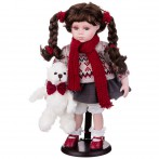 Кукла фарфоровая высота=36 см.
