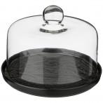 Набор для сыра со стеклянной крышкой lefard 23 см (кор=4шт.)
