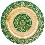 Тарелка «jasmin» green 28 cm без упаковки (мал 6шт)