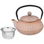 Заварочный чайник чугунный с эмалированным покрытием внутри 680 мл
