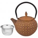 Заварочный чайник чугунный с эмалированным покрытием внутри 850 мл