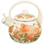 Чайник agness эмалированный со свистком, 2,2л, индукционное дно