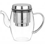 Заварочный чайник с фильтром нжс 800 мл, жаропрочное стекло