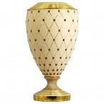 "Ваза декоративная для цветов ""Murano Cream Gold"""
