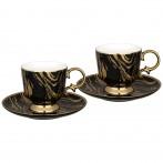Чайный набор lefard на 2 персоны 4 пр. 250 мл черный (кор=12наб.)