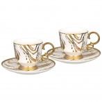 Чайный набор lefard на 2 персоны 4 пр. 250 мл (кор=12наб.)