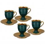 Чайный набор lefard на 4 персоны 8 пр. 250 мл зеленый (кор=6наб.)