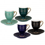 Чайный набор lefard на 4 персоны 8 пр. 250 мл микс (кор=6наб.)
