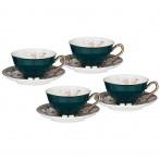 Чайный набор lefard на 4 персоны 8 пр. 220 мл зеленый (кор=6наб.)