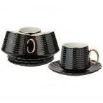 Чайный набор на 4пер. 8пр. 220мл, черный (кор=6наб.)