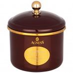 Банка для сыпучих продуктов agness, эмалированная, серия тюдор12 х 9см / 1,0л