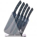 Набор ножей agness на пластиковой подставке, 6 предметов
