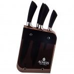 Набор ножей agness на подставке, 6 предметов