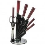 Набор ножей agness с ножницами и мусатом на пластиковой подставке, 8 предметов