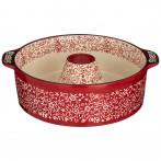 Форма для выпечки круглая 28*24*8 cм красная (кор=6шт.)
