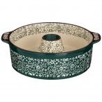 Форма для выпечки круглая 28*24*8 cм зеленая (кор=6шт.)