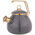 Чайник agness эмалированный со свистком, серия deluxe, 3,0л свисток с титановым покрытием