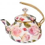Чайник эмалированный agness, серия винтаж, 2,2л (кор=4шт.)