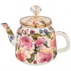 Чайник эмалированный agness, серия винтаж, 1,0л высота=17 см. (кор=4шт.)