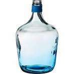 Бутыль декоративная высота=30 см. голубая