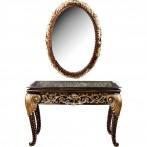 Комплект:зеркало 78*5*112 см. и консоль со стеклом 121*46*79 см. (кор=1комп.)