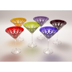 """Набор бокалов для мартини """"Цветной хрусталь"""""""