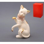 "Фигурка ""Кошка с бантом"" белая"