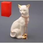 """Фигурка """"Кошка с цепочкой"""" (белая)"""
