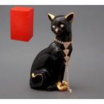"""Статуэтка """"Кошка черная с цепочкой"""""""