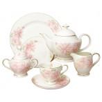 """Чайный сервиз """"Розовые цветы"""""""