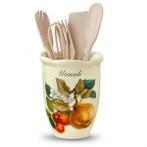 """Подставка под кухонные инструменты """"Итальянские фрукты"""""""