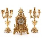 """Комплект """"Stilars"""": каминные часы + 2 подсвечника"""