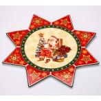 """Блюдо-звезда """"Christmas Collection"""" (Санта)"""