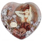 Тарелка в форме сердца Аместит  (А. Муха)