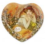 Тарелка в форме сердца Топаз (А. Муха)