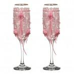 Набор бокалов для шампанского из 2 шт. с золотой каймой 170 мл.