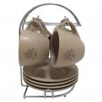 """Набор из 4-х чайных пар на подставке """"Дерево жизни"""""""