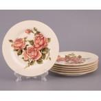 """Набор десертных тарелок """"Корейская роза"""""""